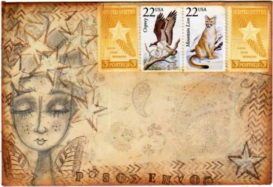 Mail art by Acalla of ATC's For All. Click to view original