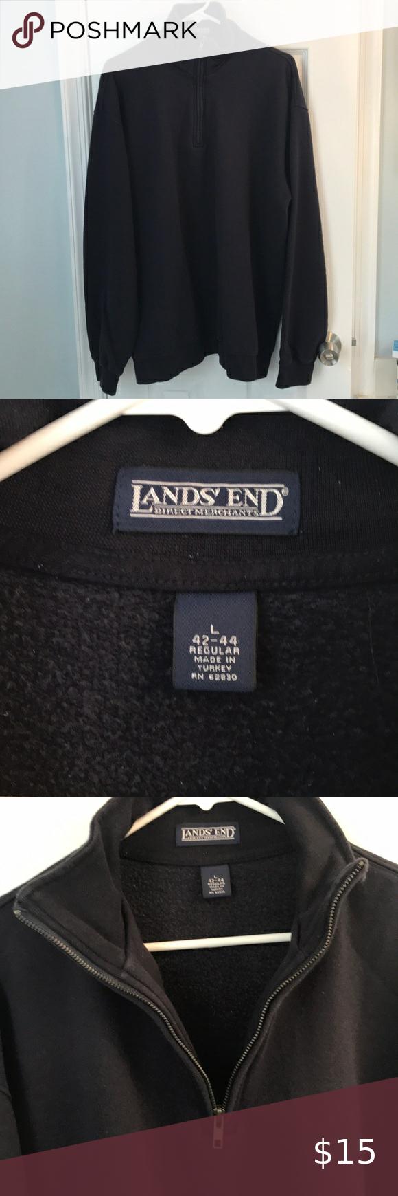 Lands End Men S Quarter Zip Mens Quarter Zip Quarter Zip Sweatshirt Shirt [ 1740 x 580 Pixel ]