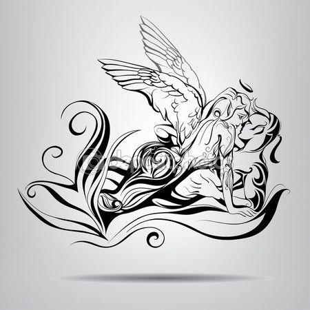 Ангел и демон Иллюстрация — Векторная картинка #67900831 ...