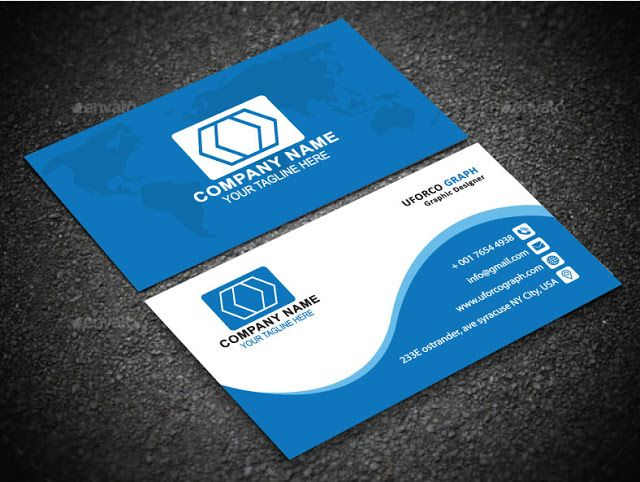 Design Standard Business Card In 24 Hours Uforco Graph Graphic