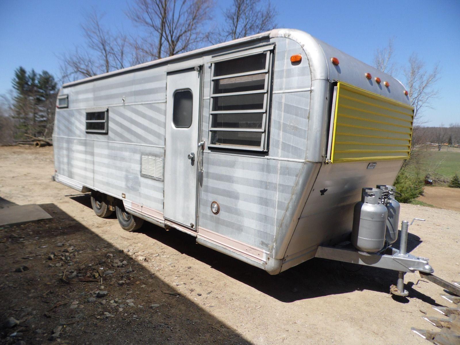 Aluminum Travel Trailers >> Vintage 1969 Century Travel Trailer Camper 22 Ft Not Airstream