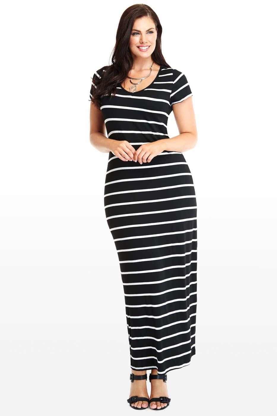 527036e91539f Plus Size Bayshore Maxi Dress in Black - Fashion To Figure