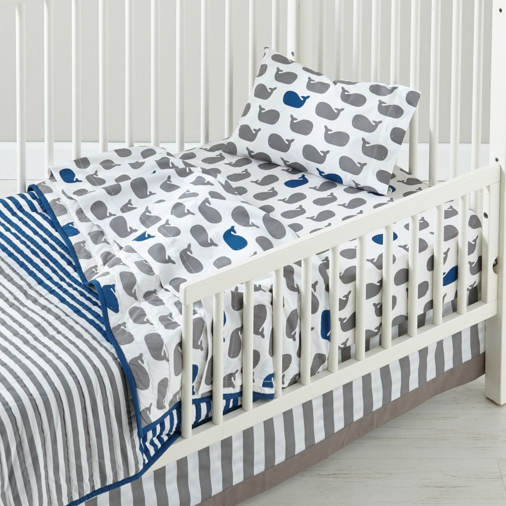 Make A Splash Toddler Bedding Whales Crate And Barrel