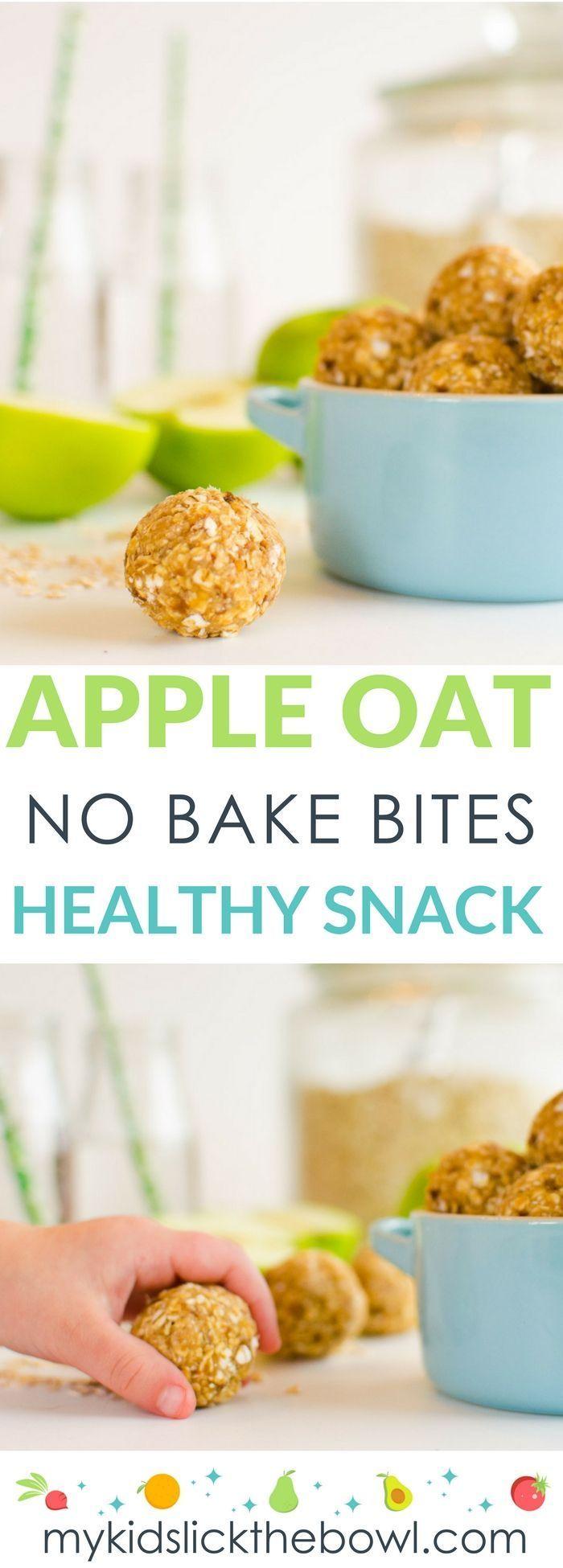 Apfel Hafer No-Bake Bites #kidsnutrition