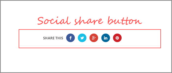 Animated Social Share Button For Blogger with CSS