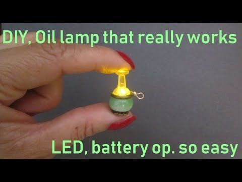 Oil lamp that really works, how to make it in miniature for dollhouse #dollhouseminiaturetutorials