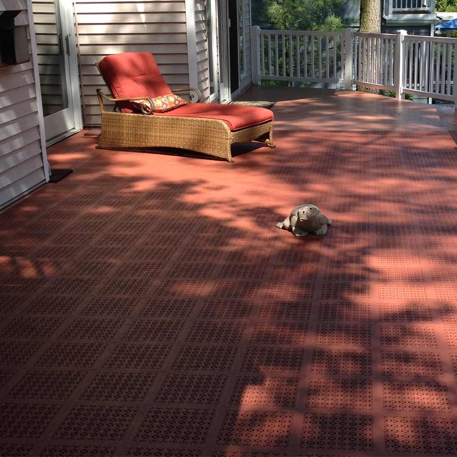 Staylock perforated outdoor decking tiles offer exterior patio and staylock perforated outdoor decking tiles offer exterior patio and deck flooring that is easily installed dailygadgetfo Choice Image