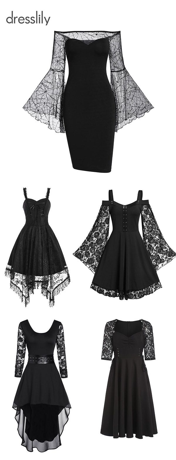 Lace Dresses Women's Dresses in Black Lace