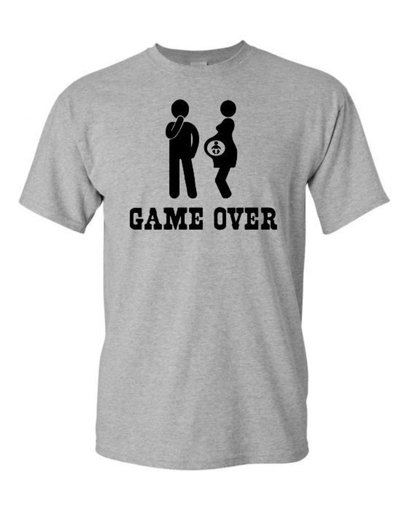 1de2850a7 Men's Gender Reveal Shirt, Shirt For a New Dad, Gift For a New Dad, Men's  Maternity Shirt, Funny Dad To Be Shirt Gift, Men's Game Over Shirt in 2019  ...