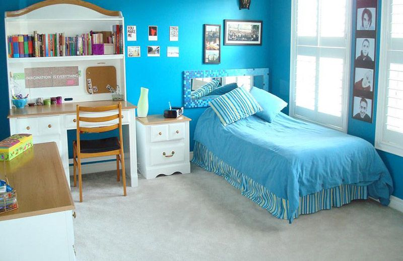 Blue-girls-bedroom-ideas Girls Bedroom Pinterest
