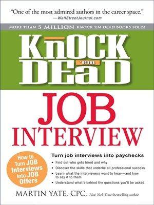 eBOOK Knock u0027em Dead #Job #Interview How to Turn Job Interviews - knock em dead resumes