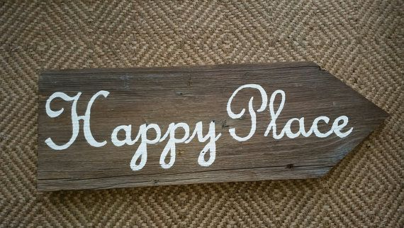 Happy Place sign by TheRusticManor on Etsy