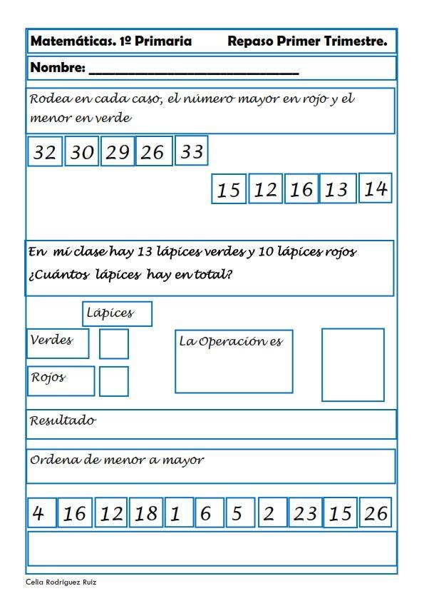 Ejercicios de Matemáticas para primaria | Matematica ...