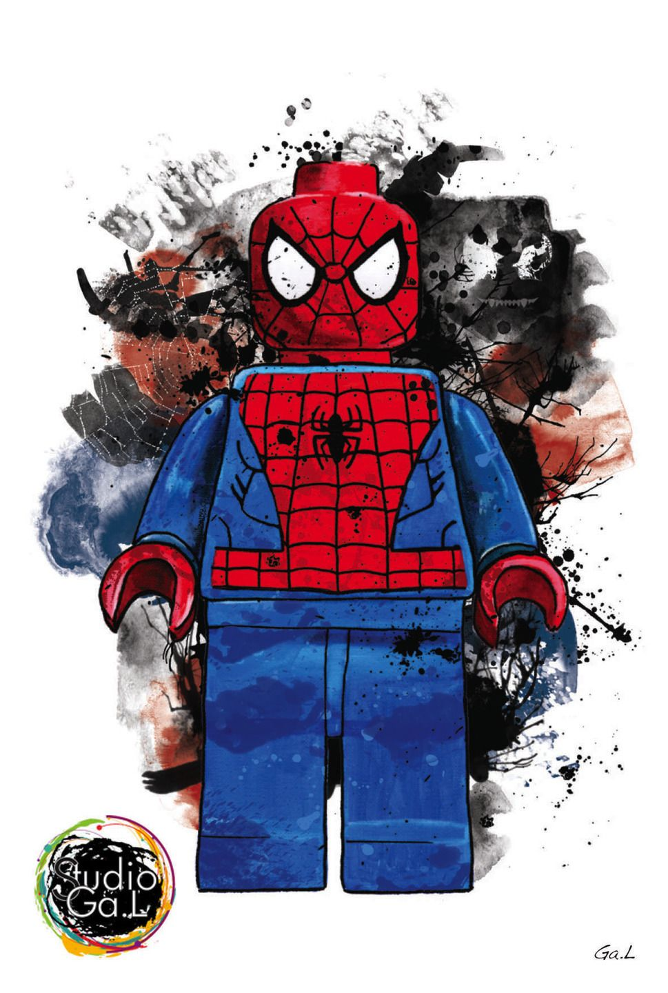 Spiderman avengers figurine art design deco chambre superheros en 2019 pared lego hombre - Deco chambre super heros ...