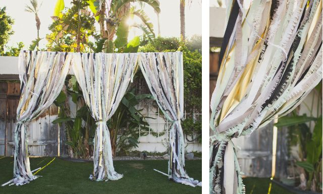 Mint Color Outdoor Ceremony Decorations: Mint Love Social Club: Diy Textured Curtains (like What We