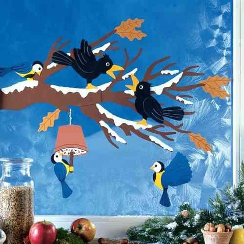 Fensterbilder herbst google keres s tel pinterest winter ideas craft and creative - Fensterbilder herbst ...