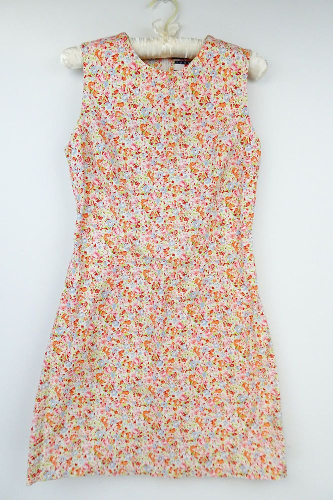 Women's Tommy Hilfiger Multi-Color Floral Cotton Shift Dress Size 6 W181 #TommyHilfiger #SheathShift