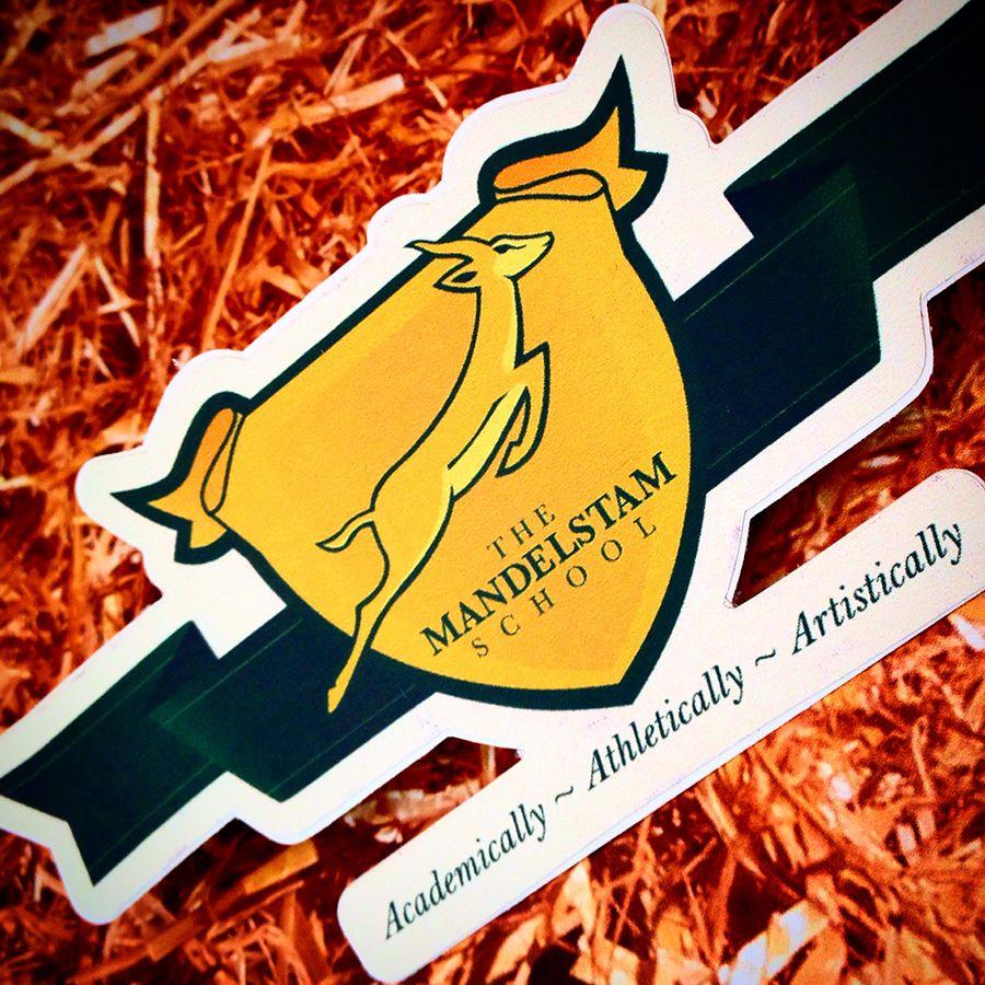 Mandelstam school stickers custom die cut white border cut out