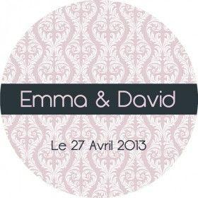 Sticker mariage baroque - My Happy Fabrique