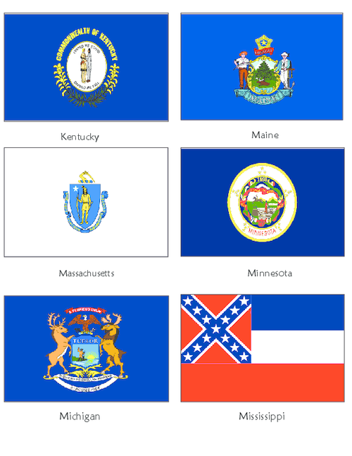 Usa State Flags Ky Me Ma Mn Mi Ms Kidspressmagazine Com Flag Template State Flags Fun Activities For Kids