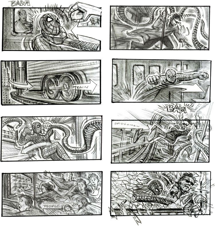 Storyboards from Ten Popular Films | Storyboard examples, Storyboard template, Storyboard design