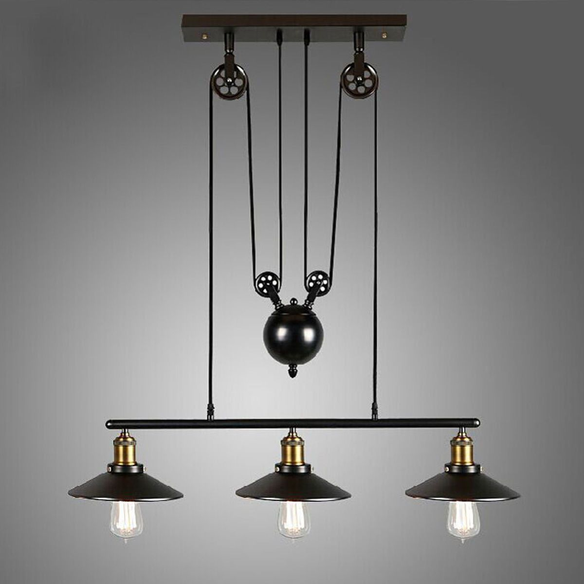 artistic lighting. Vintage Pulley Pendant Loft Ceiling Light Hanging Lamp Artistic Lighting Fixture | EBay