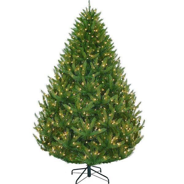Martha Stewart Living 7 5 Ft Feel Real Artificial California Cedar Christmas Tree With Clear Ready Artificial Christmas Tree Christmas Tree California Cedar