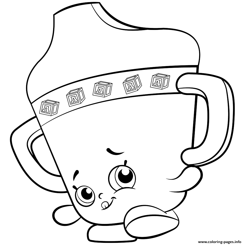 Baby Sippy Sips Shopkins Season 2 Coloring Pages Printable And Book To Print For Free Find More Online Kids Adults Of