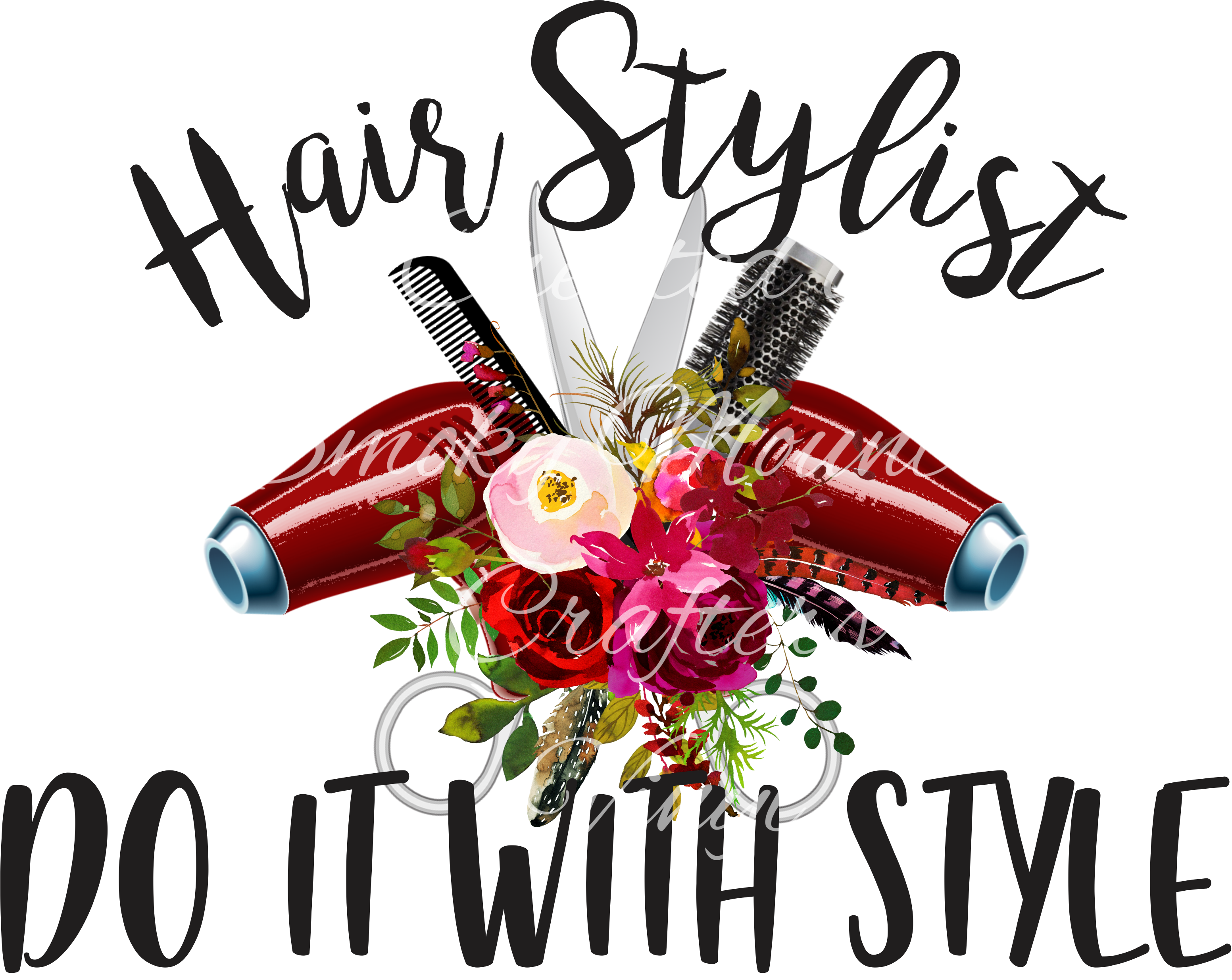 Hairstylist Do It With Style Download Default Title Hair Stylist Tumbler Designs Hair Salon Quotes