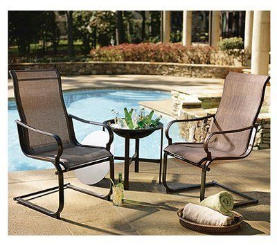 Courtyard Creations STS3V5Z 3-Piece Florence Collection Chat Sling Chair  Set by Courtyard Creations. - Courtyard Creations STS3V5Z 3-Piece Florence Collection Chat Sling