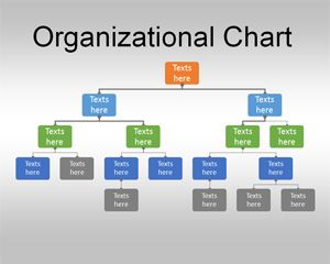 Org chart template for powerpoint the example above shows  simple structure created in using shapes also best organizational design images charts graphics rh pinterest