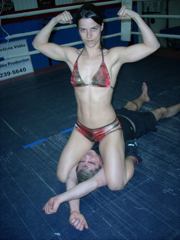 Mixed Wrestling Femdom Blond