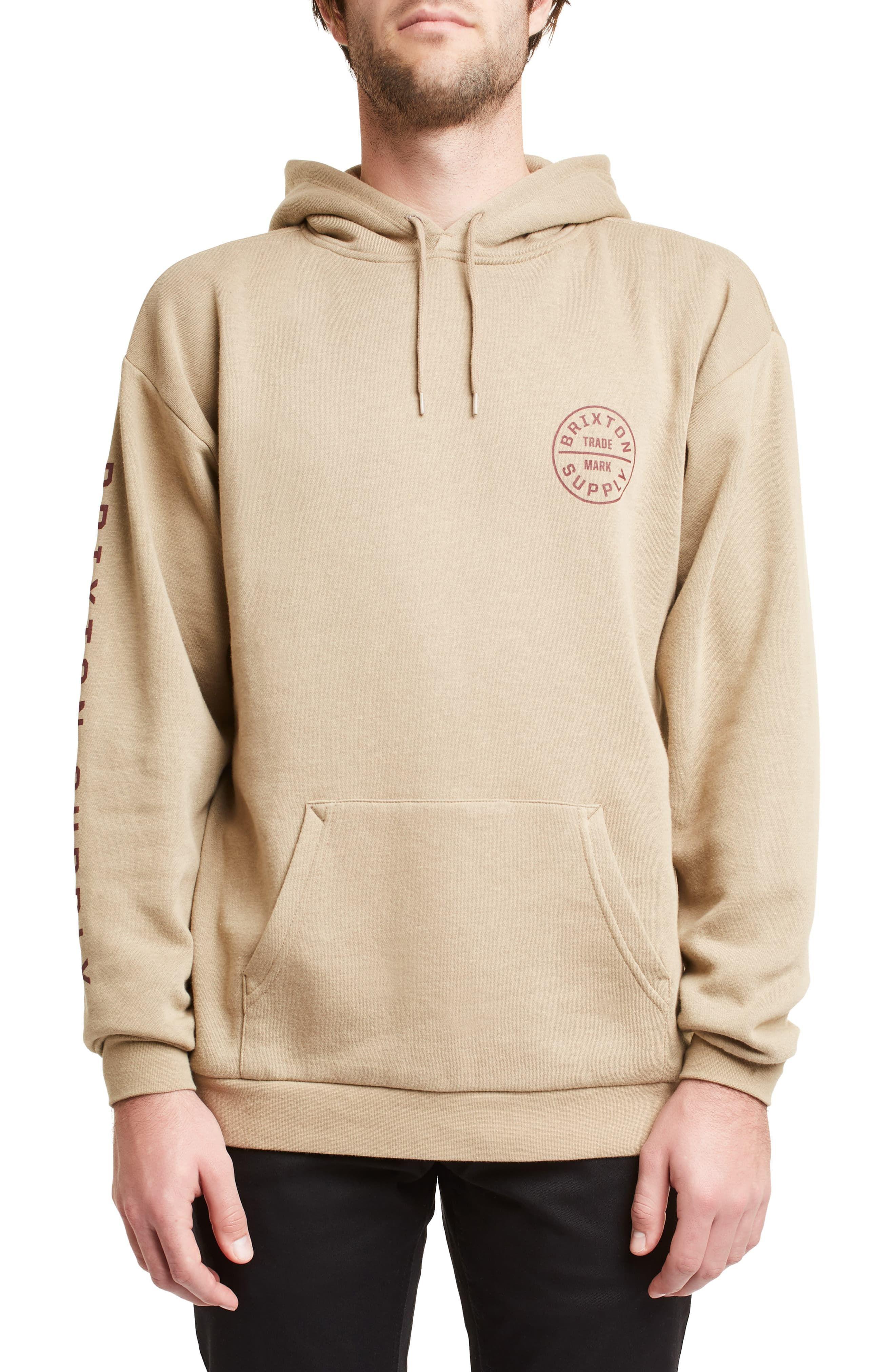 e65c6ba63a Men's Brixton Oath Ii Hooded Sweatshirt, Size XX-Large - Beige ...