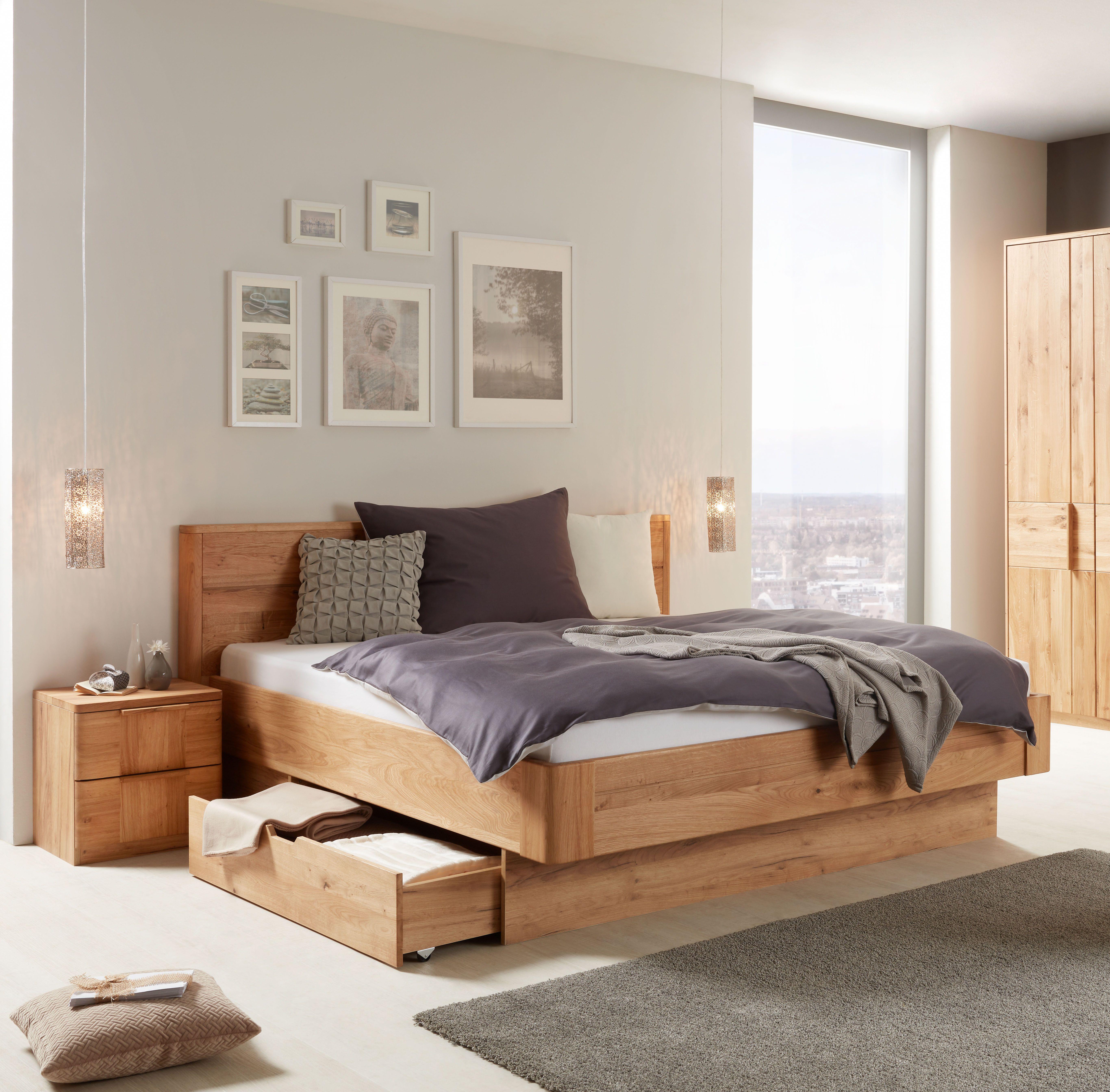 Bett In Wildeiche Teilmassiv Schlafzimmer Set Haus Haus Deko