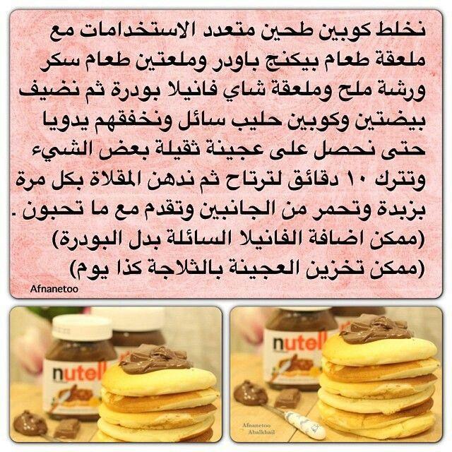 طريقة البانكيك فطور الصباح Cookout Food Food And Drink Food