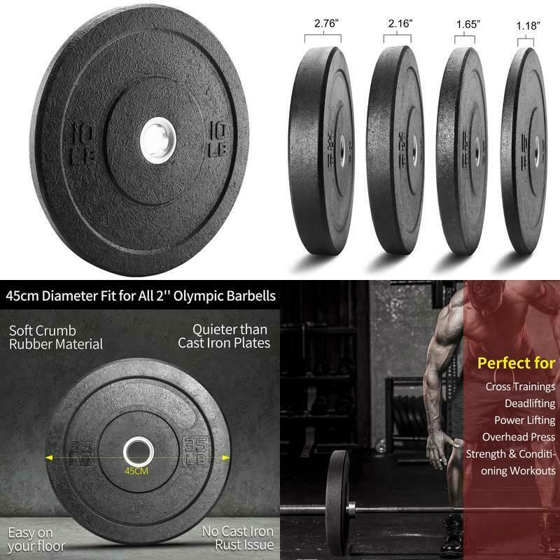Xprt Fitness Olympic Crumb Rubber Bumper Plate 10 Lb Pair Weight Lifting Plat