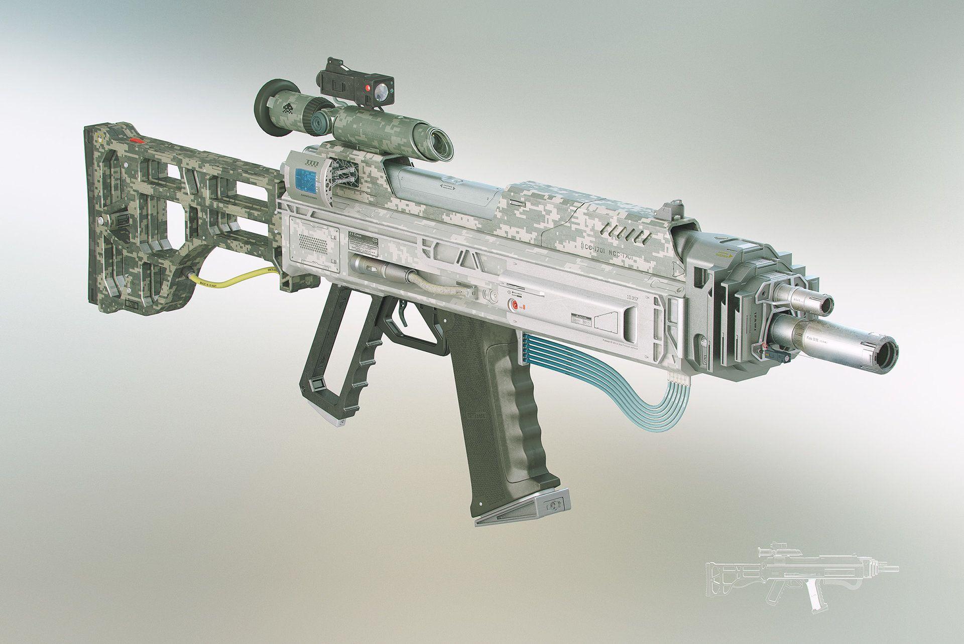 ArtStation - R2 Rifle , Cristiano Rinaldi