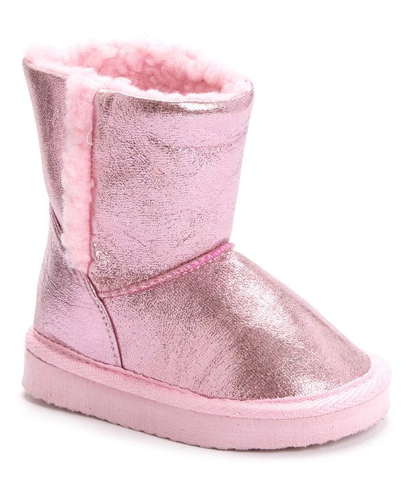 Look at this Chatz by Chatties Light Pink Shine Boot on #zulily today!