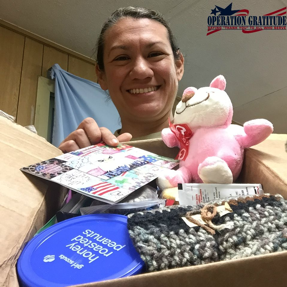 Care packages = SMILES for our deployed troops!