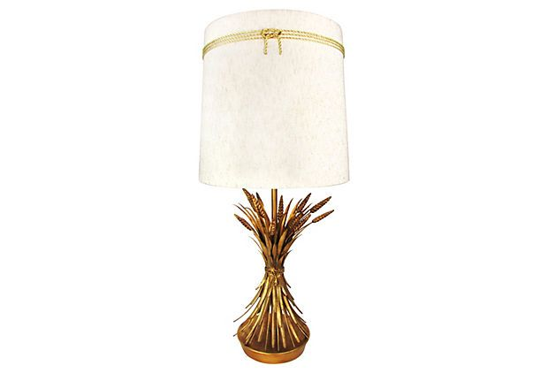 Made Popular By Coco Chanel Who Love This Motif 1950s Marbro Wheat Sheaf Lamp W Original Shade By Ruby George On One Kin Lamp Vintage Lamps Vintage Decor