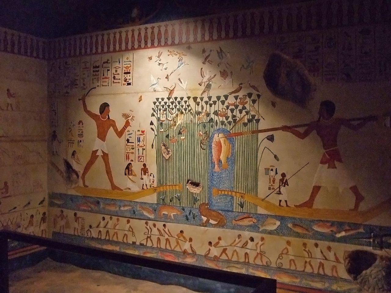 2000 bp rock cut tomb of beni hasan egyptian ancient for Beni hasan mural