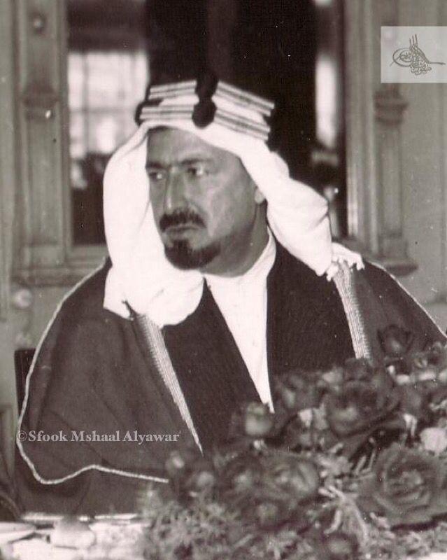 الشيخ عجيل الياور شيخ مشايخ شمر القاهرة ١٩٣٩م Saudi Arabia Prince History Historical Figures