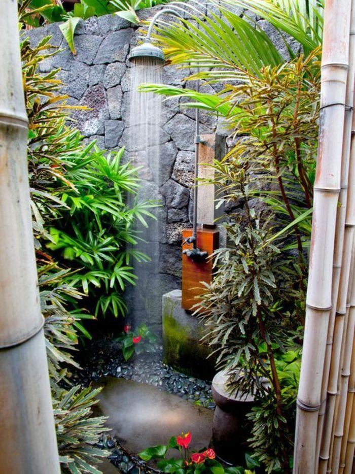 Comment am nager la salle de bain exotique 40 id es sdb exotique salle de bain exotique - Salle de bain tropicale ...