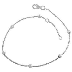 Sterling Silver Sparkle Chain & Diamond-cut Balls Station Anklet (9-10 Inch) Kooljewelry. Save 71 Off!. $17.99. Make a bold beauty statement with this elegant sterling silver anklet. Comes with a comfortable lobster claw closure. Crafted in sterling silver. Weighs 2.8 gram(s). Anklet adjusts from 9 to 10 inches