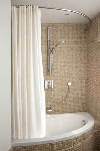 Galbobainexperiencehonorebarresuspensionrideaudouche - Suspension salle de bain design