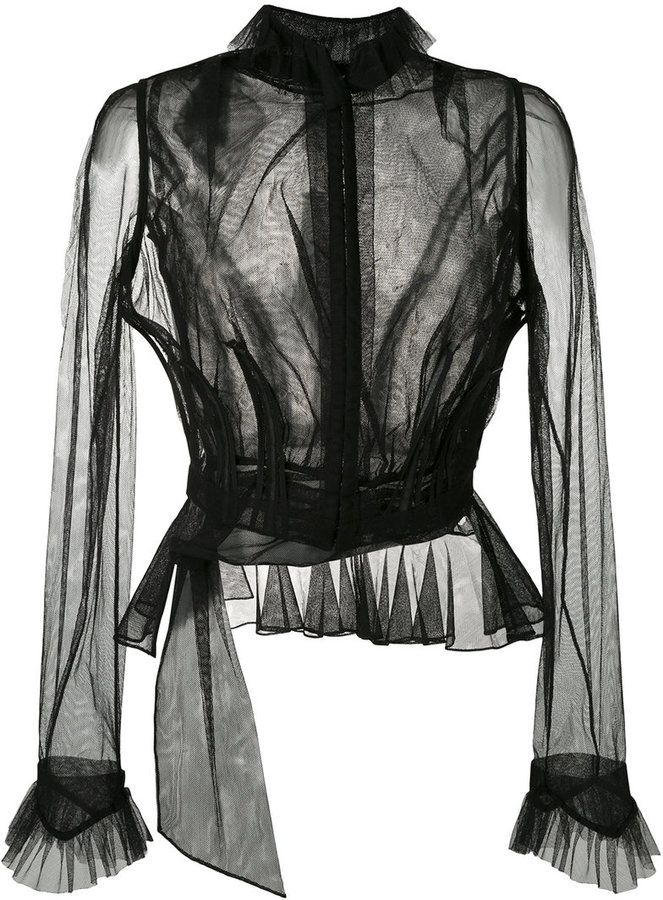 c511f82c7236a Maison Margiela sheer ruffled blouse