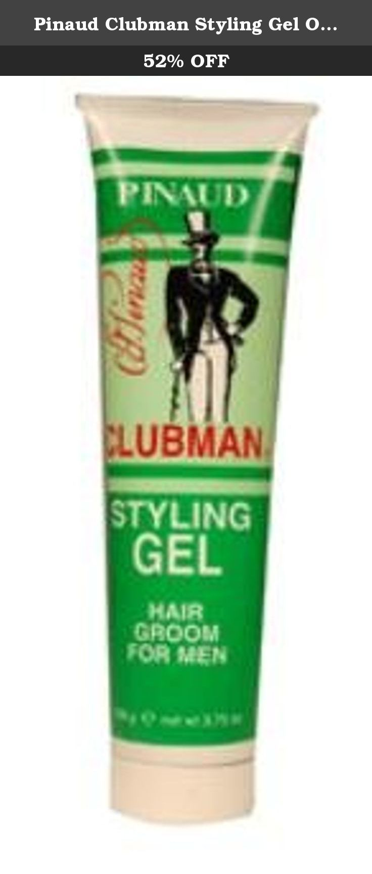 Pinaud Clubman Styling Gel Original 3 75 Oz Keeps Hair Neat Well Groomed Never Greasy Conditions As It Grooms Styling Gel Gel Beauty And Personal Care