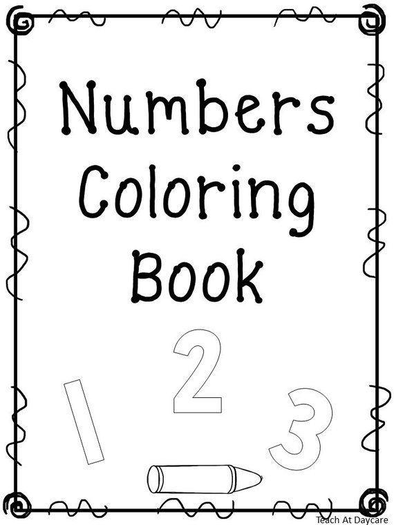 21 Printable Number Coloring Book Worksheets. Numbers 1-20