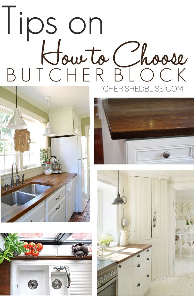Tips for Choosing Butcher Block Counters. Get the perfect wood type and finish with these simple tips! @Lumber Liquidators #Kitchen #ad