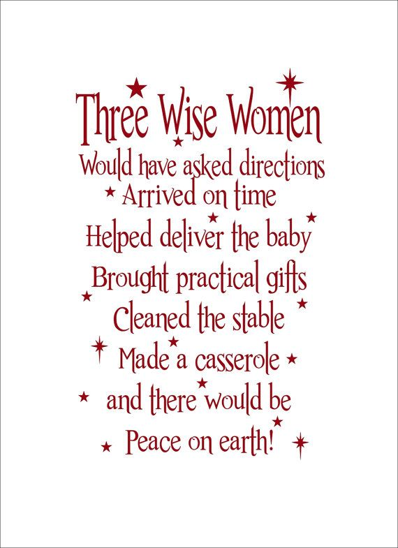 Three Wise Women Christmas Vinyl Wall Decal By Roycelanecreations